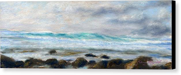 Rainbow Colors Pastel Canvas Print featuring the painting Ke' E Wave by Kenneth Grzesik