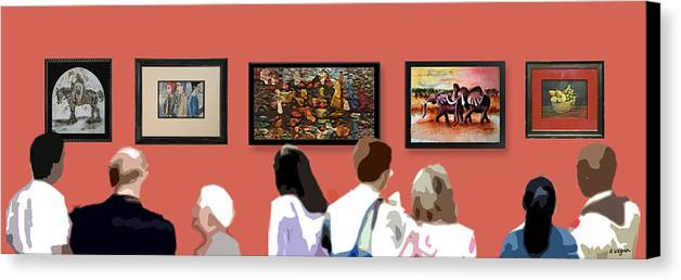 Art Canvas Print featuring the digital art The Gallery by Arline Wagner