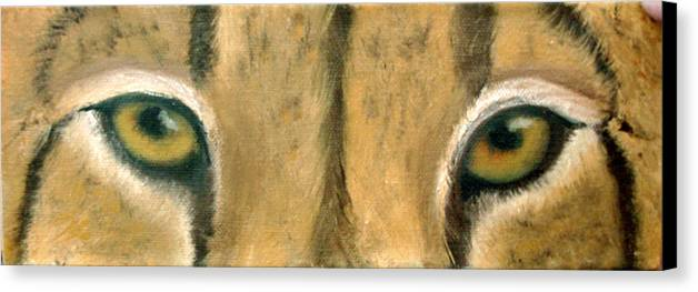 Cheeta Canvas Print featuring the painting Whos Watching Who Cheeta by Darlene Green