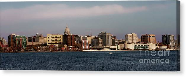Madison Canvas Print featuring the photograph Madison Wisconsin by Tommy Anderson