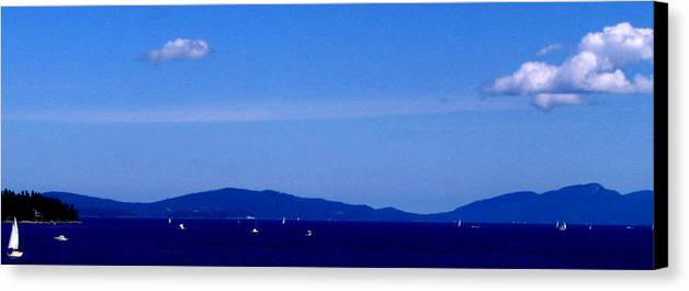 Ocean Canvas Print featuring the photograph Great Day To Boat by Rheo