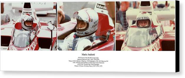 Mario Andretti Canvas Print featuring the photograph Mario Andretti by Don Struke