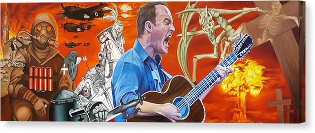 Dave Matthews Band Canvas Print featuring the painting Dave Matthews The Last Stop by Joshua Morton