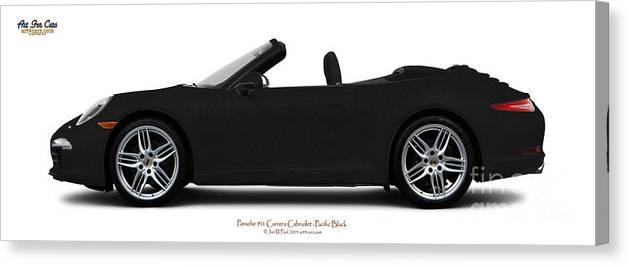 Car Canvas Print featuring the photograph Porsche 911 Pacific Black by Art Faul