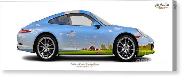 Car Canvas Print featuring the photograph Porsche 911 Visingsoe Roenaes by Art Faul