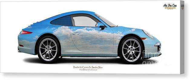 Car Canvas Print featuring the photograph Porsche 911 Ystad Skies by Art Faul