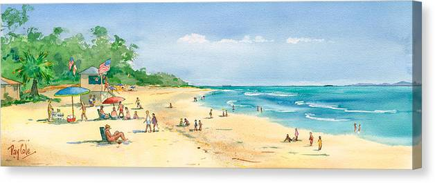 Beach Canvas Print featuring the painting Coastal View by Ray Cole