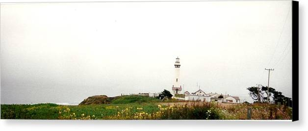 Lighthouse Canvas Print featuring the photograph Point Arena Lighthouse by Edward Wolverton