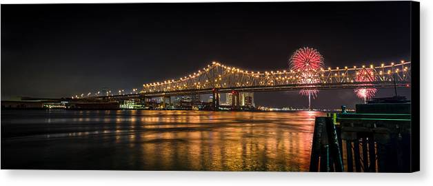 New Orleans Canvas Print featuring the photograph 4th Of July Over The Big Easy Part Deaux by David Morefield
