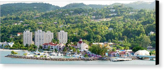 Panoramic Canvas Print featuring the photograph Ocho Rios Panorama by Ramunas Bruzas