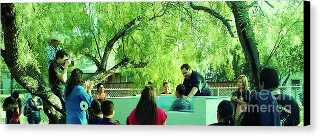 Water Baptism Canvas Print featuring the photograph Water Baptism by Esther Rowden
