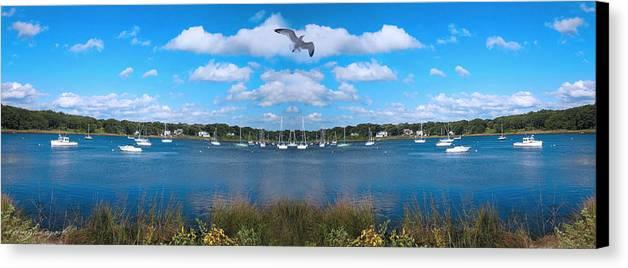 Marina Park Canvas Print featuring the photograph Marina by Lourry Legarde