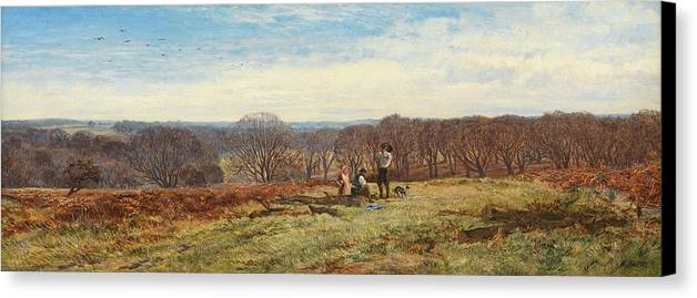 Woods Canvas Print featuring the painting In The New Forest by Heywood Hardy