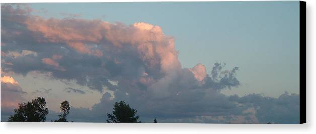 Sky Canvas Print featuring the photograph Atmospheric Barcode 04 08 2008 1 by Donald Burroughs