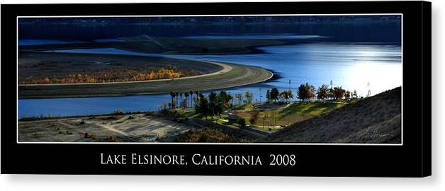 Lake Canvas Print featuring the photograph Lake Elsinore Sunset by Richard Gordon