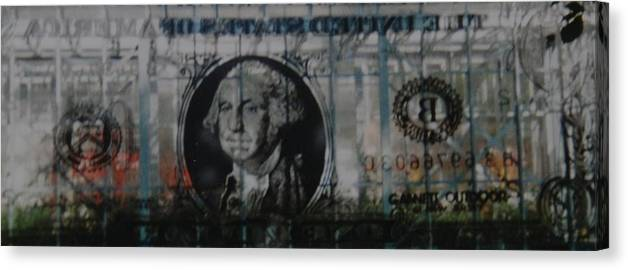 Park Canvas Print featuring the photograph Dollar Bill by Rob Hans