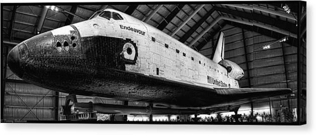 Aviation Canvas Print featuring the photograph Space Shuttle Endeavour 2 by Tommy Anderson