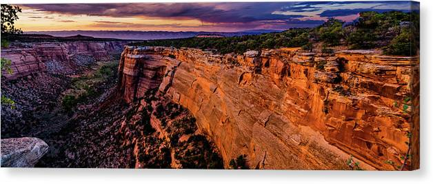Colorado Canvas Print featuring the photograph View From Upper Ute Canyon, Colorado National Monument by TL Mair
