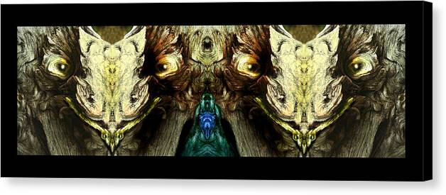 Faces Of Trees Canvas Print featuring the photograph Bipolar Mindmeld by Oliver Norden