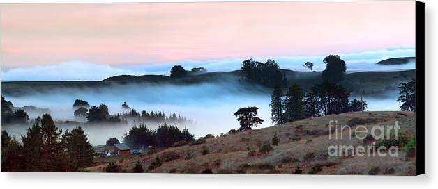 Bodega Canvas Print featuring the photograph Fog Over The Bodega Coastline In California by Wernher Krutein