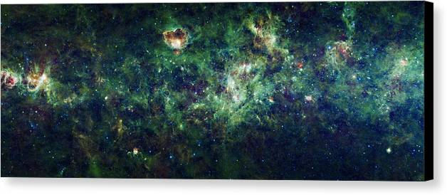 Milky Way Canvas Print featuring the photograph The Milky Way by Adam Romanowicz