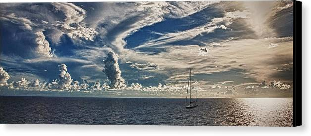 Sailboat Canvas Print featuring the photograph Sail Away With Me by Carolyn Whitaker