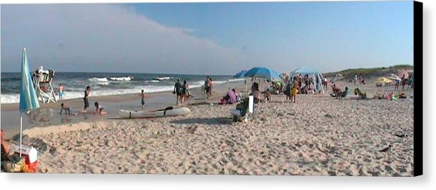 Beaching Canvas Print featuring the photograph Beaching On The Atlantic Ocean by Daniel Henning