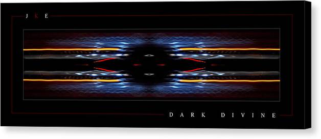 Abstract Canvas Print featuring the photograph Dark Divine by Jonathan Ellis Keys