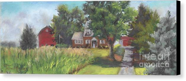 Landscape Of A Ohio Farm Canvas Print featuring the painting Family Farm by Terri Meyer
