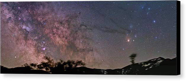 Milky Way Canvas Print featuring the photograph The Milky Way Core by Alex Conu