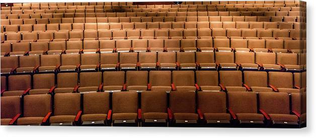 Photography Canvas Print featuring the photograph Empty Theater Chairs In Ventura Arts by Panoramic Images