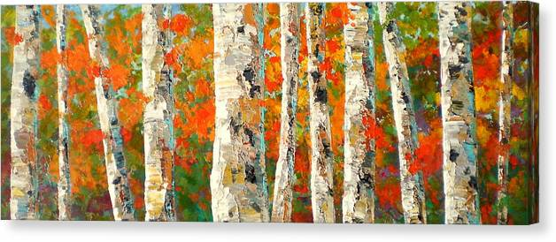 Marilynhurst Canvas Print featuring the painting Into The Fall by Marilyn Hurst