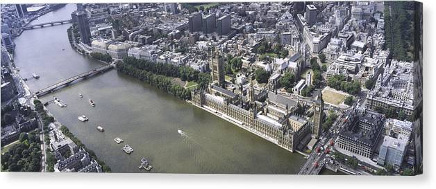 Britain Canvas Print featuring the photograph Westminister, London by Xavier Durán