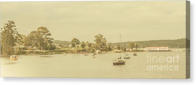 Nautical Canvas Print featuring the photograph Vintage Dover Harbour Tasmania by Jorgo Photography - Wall Art Gallery