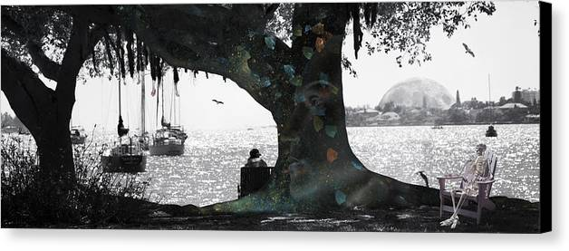 Skeleton Canvas Print featuring the digital art Deeply Rooted by Betsy Knapp