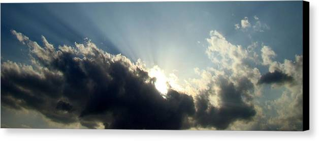 Blue Canvas Print featuring the photograph Radiant Sky One by Ana Villaronga