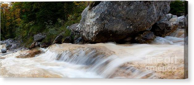 Cascade Canvas Print featuring the photograph Cascade In The Bavarian Alps by Fabian Roessler