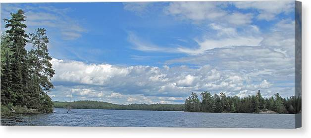 Manitoulin Canvas Print featuring the photograph Clouds Over Algoma by Ian MacDonald