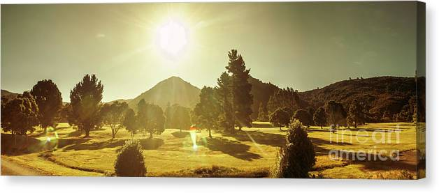 Tasmania Canvas Print featuring the photograph Zeehan Golf Course by Jorgo Photography - Wall Art Gallery