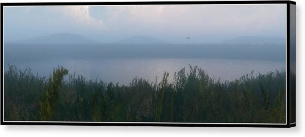 Landscape Canvas Print featuring the digital art The Pond... by Tim Fillingim