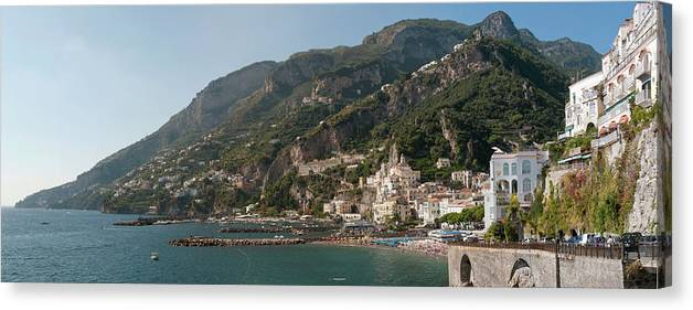 Tranquility Canvas Print featuring the photograph Amalfi On The Gulf Of Salerno by Stuart Mccall