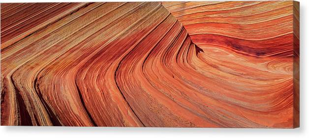 Surreal Canvas Print featuring the photograph Wave Panorama by Johnny Adolphson