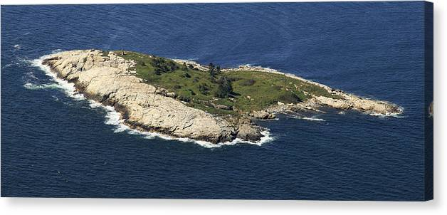 America Canvas Print featuring the photograph Outer White Island, Boothbay Harbor by Dave Cleaveland
