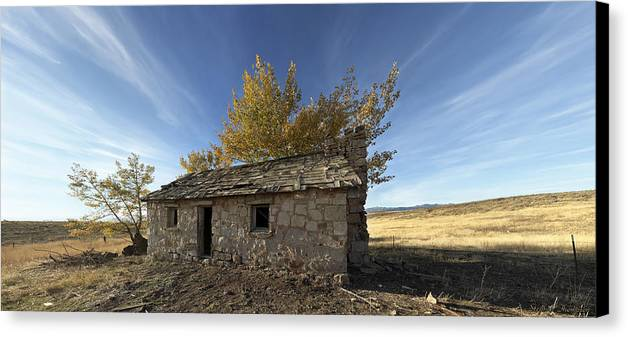 Architecture Canvas Print featuring the photograph Sparta Stage Stop by Stephen Thompson