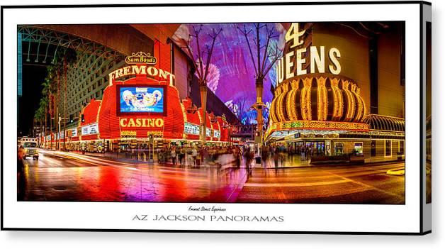 Las Vegas Canvas Print featuring the photograph Fremont Street Experience Poster Print by Az Jackson