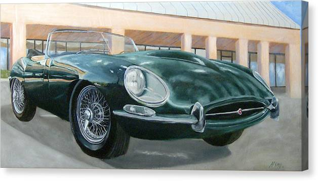 Jaguar Canvas Print featuring the painting Happy 40th by Jack Atkins