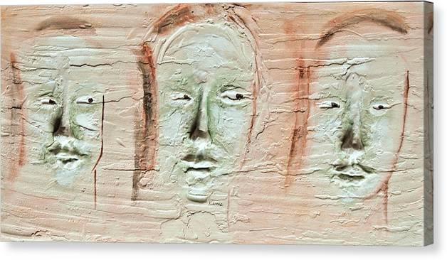 Portraits Canvas Print featuring the painting Faces by Kime Einhorn