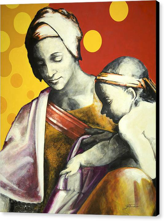 Figurative Canvas Print featuring the painting Madona by Jean Pierre Rousselet