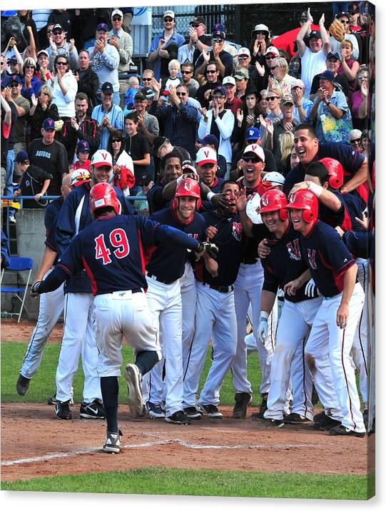 Baseball/victoria Seals Canvas Print featuring the photograph Grand Slam by David Nicholls