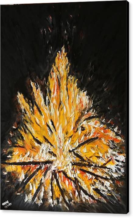 Fire Canvas Print featuring the painting Up In Flames by Anupama Arora Mallik